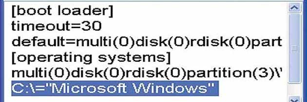 Где файл boot.ini в Windows 7?