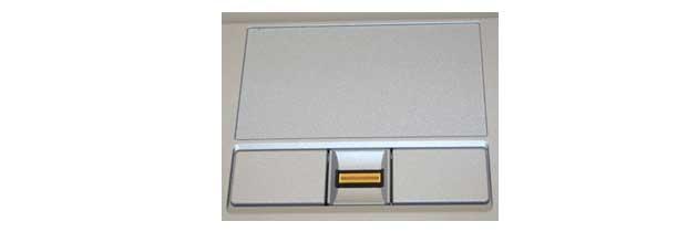 Разборка упора для рук со сканером отпечатков пальцев на ноутбуке Lenovo z61e-m-p