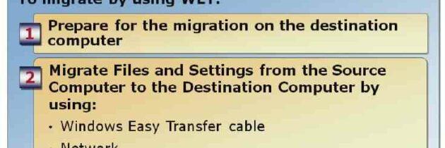 Миграция пользовательских настроек и данных с помощью WET