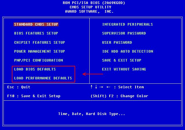 BIOS-сброс