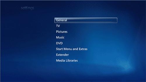 Управление_настройками_WindowsMediaCenter