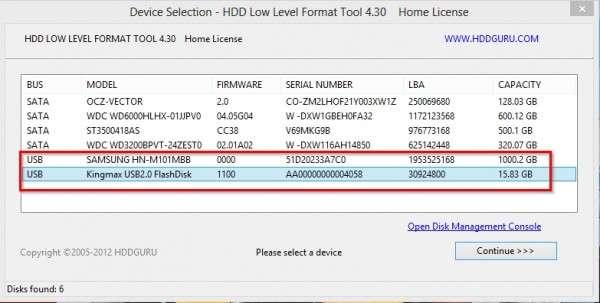 полное форматирование hdd