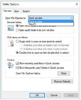 Организация файлов с помощью опции быстрого доступа Опция быстрого доступа всегда отображается в верхней части панели навигации. Её единственная задача — предоставить вам быстрый доступ к часто используемым файлам и папкам. Закрепив расположение нужных вам пунктов, вы можете её настроить. Опция быстрого доступа одно из самых важных дополнений файлового проводника. Как уже говорилось ранее, организация находящихся в разных местах файлов один из первых шагов на пути к общей организации. После того, как вы определили эти локации, в пункте быстрого доступа прикрепите к ним ярлыки и легко открывайте то, что вам нужно. Для того, чтобы закрепить в списке быстрого доступа нужный диск, папку, библиотеку или раздел, щёлкните по нему правой кнопкой мыши и в контекстном меню выберите пункт «Закрепить для быстрого доступа». Чтобы удалить ненужный элемент, щёлкните по нему, в списке быстрого доступа, правой кнопкой мыши и выберите пункт «Изъять из быстрого доступа». Недавно открываемые папки появляются в нижней части списка быстрого доступа. Если выбран заголовок быстрого доступа, в верхней части панели содержимого отобразятся прикреплённые и недавние папки этой группы, с недавно открытыми файлами под ними. Вы можете просмотреть этот список последних файлов (и даже прикрепить ярлык на панель быстрого доступа), перейдя в %AppData %\Microsoft\Windows\Recent. До этого расположения можно добраться ещё быстрей, откройте поле Run\Запуск и введите в него shell:recent. Некоторые дополнительные настройки быстрого доступа вы можете найти в диалоговом окне «Свойства папки». Где, на самом верху, вы можете указать, хотите ли вы, чтобы новые окна проводника открывались в быстром доступе или стандартно, как «Этот компьютер».