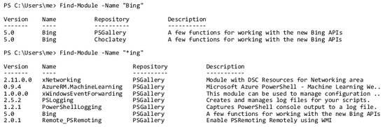 Find-Module_bing