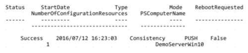 Get-DSCConfigurationStatus