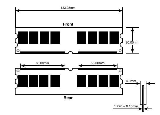 Типичный 240-контактный DDR2 DIMM.
