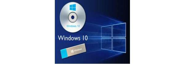 Установка Windows 10 с DVD или USB-накопителя