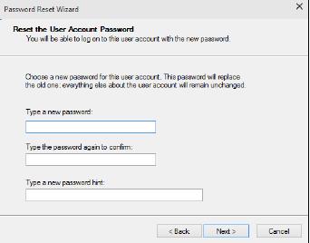 новый пароль подсказка