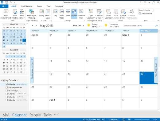 Календарь Outlook2013