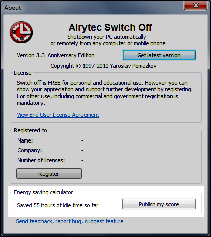Airytec Switch Off