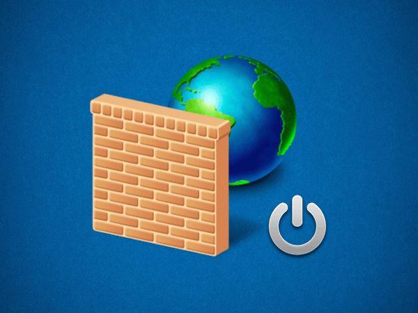Отключить брандмауэр Windows 7