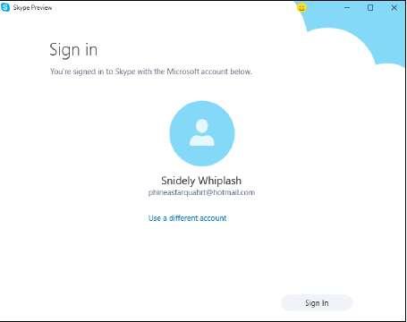 вход в систему Skype