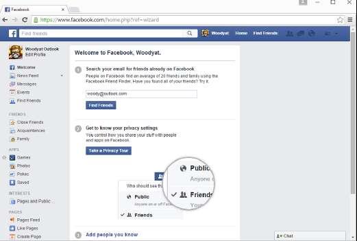 Новый аккаунт Facebook