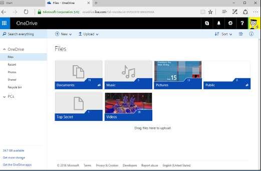 учётная запись OneDrive