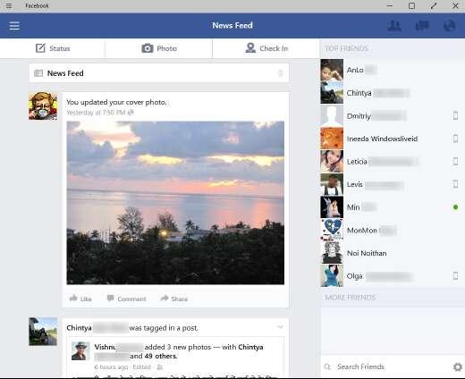 универсальное приложение Facebook