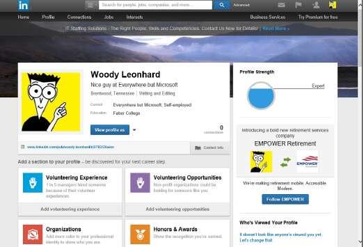 профиль LinkedIn