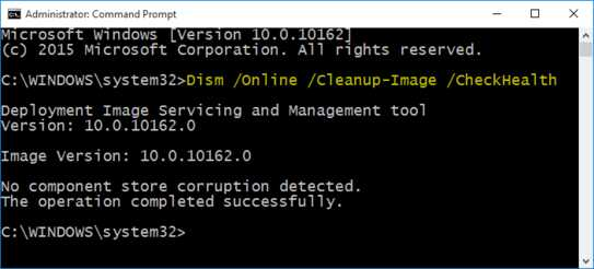 Dism⁄Online⁄Cleanup-Image⁄CheckHealth