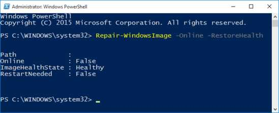 Repair-WindowsImage-Online-RestoreHealth