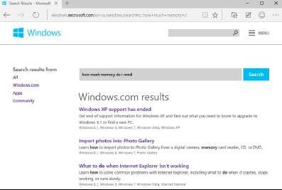 Веб-сайт справки Windows