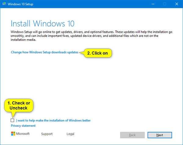 Изменить способ загрузки обновлений программой установки Windows
