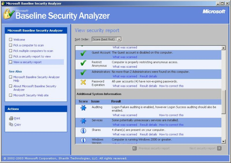 GPO Microsoft Security Baseline