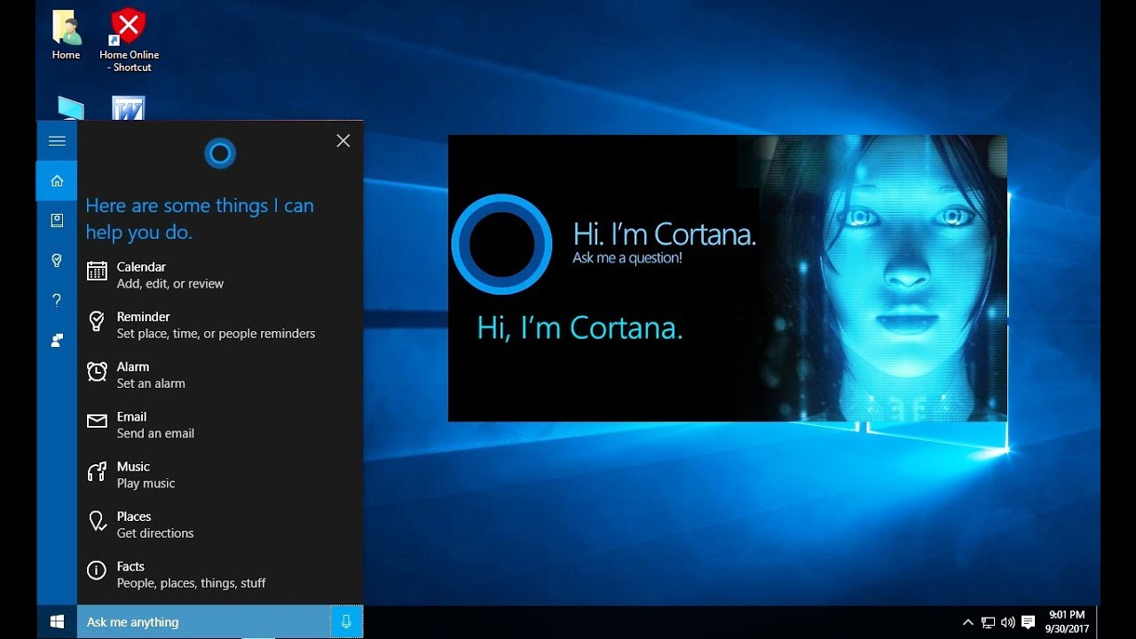 Сброс поиска Cortana