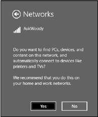 укажите Windows сети